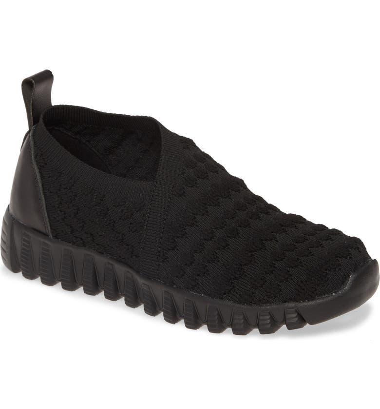 BERNIE MEV. Amie Slip-On Sneaker, Main, color, BLACK FABRIC