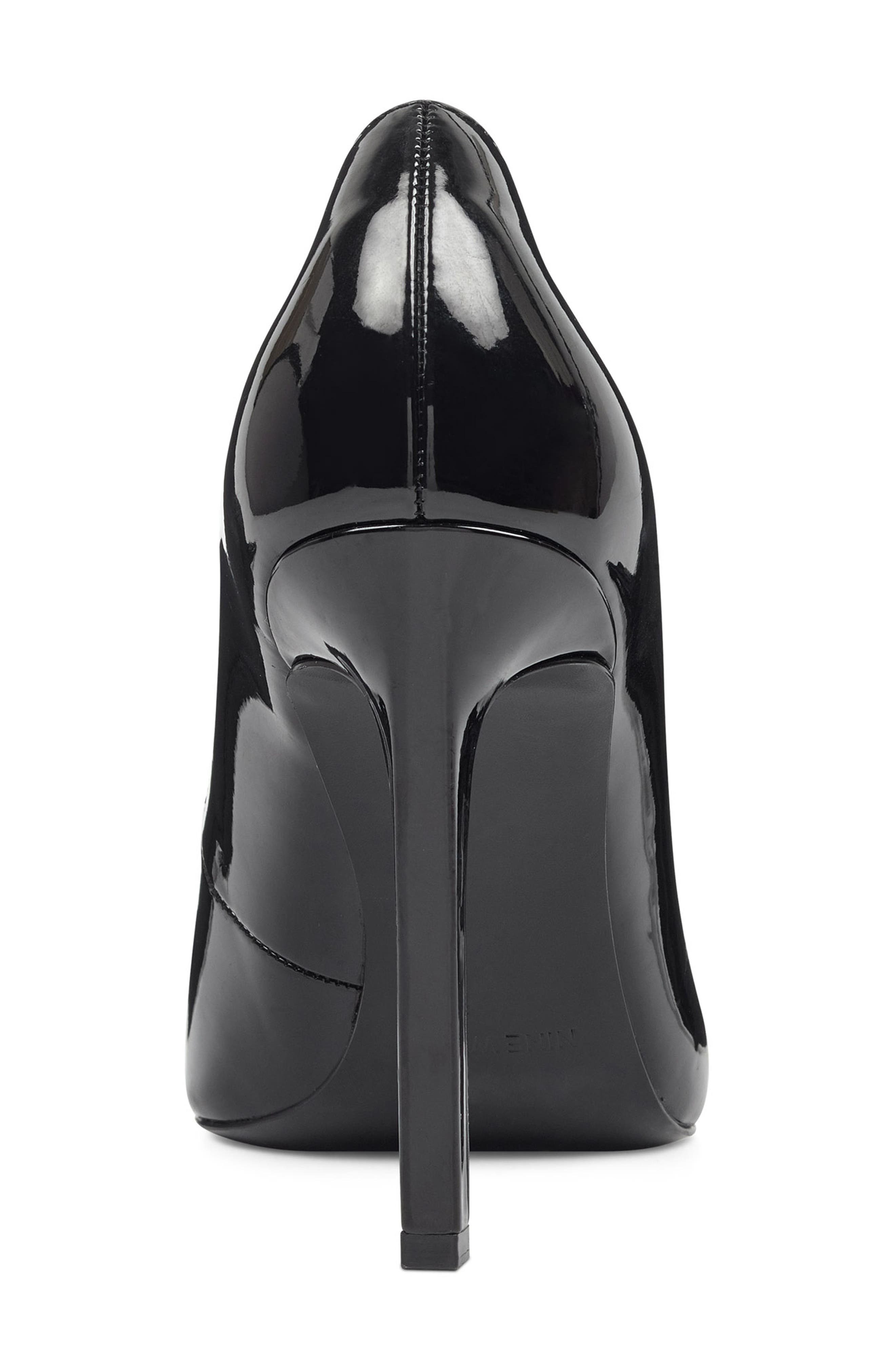 ,                             'Tatiana' Pointy Toe Pump,                             Alternate thumbnail 6, color,                             BLACK PATENT LEATHER