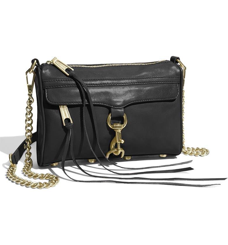 REBECCA MINKOFF 'Mini MAC' Convertible Crossbody Bag, Main, color, 001