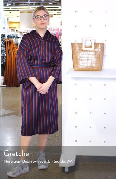 Shirley Croc Embossed Leather Handbag, sales video thumbnail
