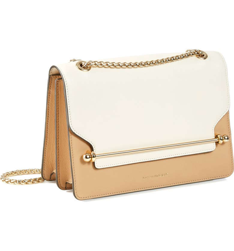STRATHBERRY East/West Bicolor Leather Crossbody Bag, Main, color, 250