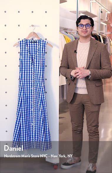 Gingham A-Line Dress, sales video thumbnail