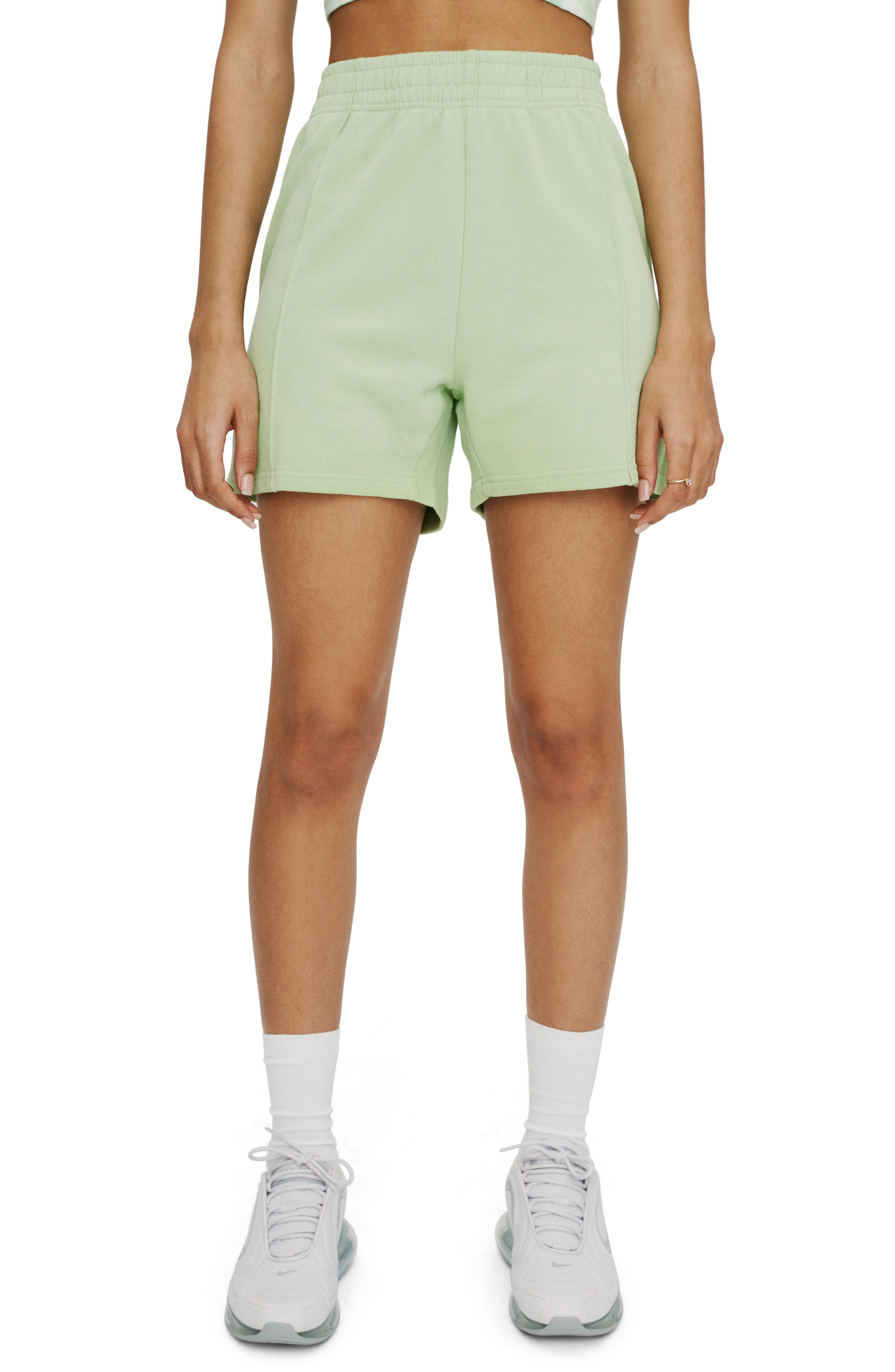 Pintuck Fleece Shorts