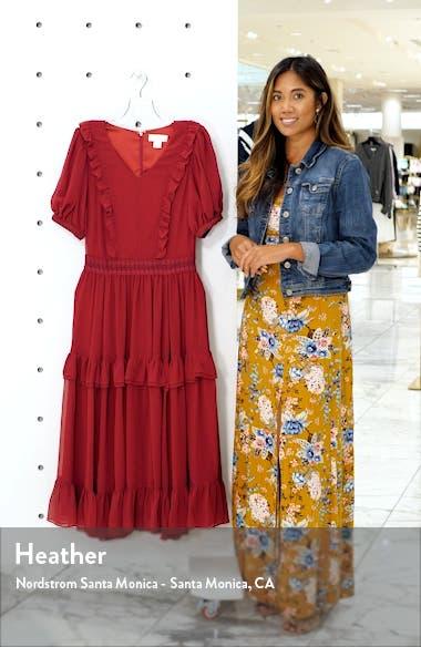 Tiered Ruffle Midi Dress, sales video thumbnail