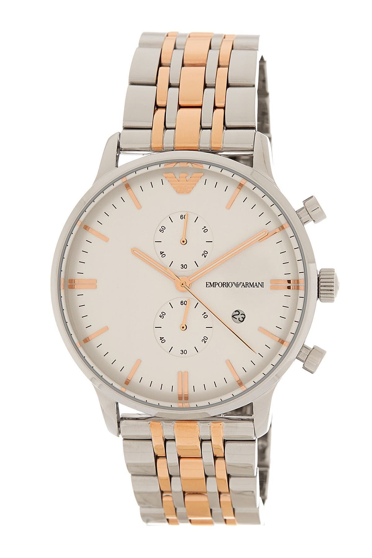 Image of Emporio Armani Men's Two-Tone Bracelet Watch, 43mm