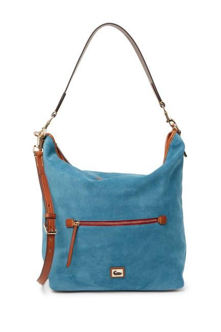 Image of Dooney & Bourke Large Suede Hobo Crossbody Bag