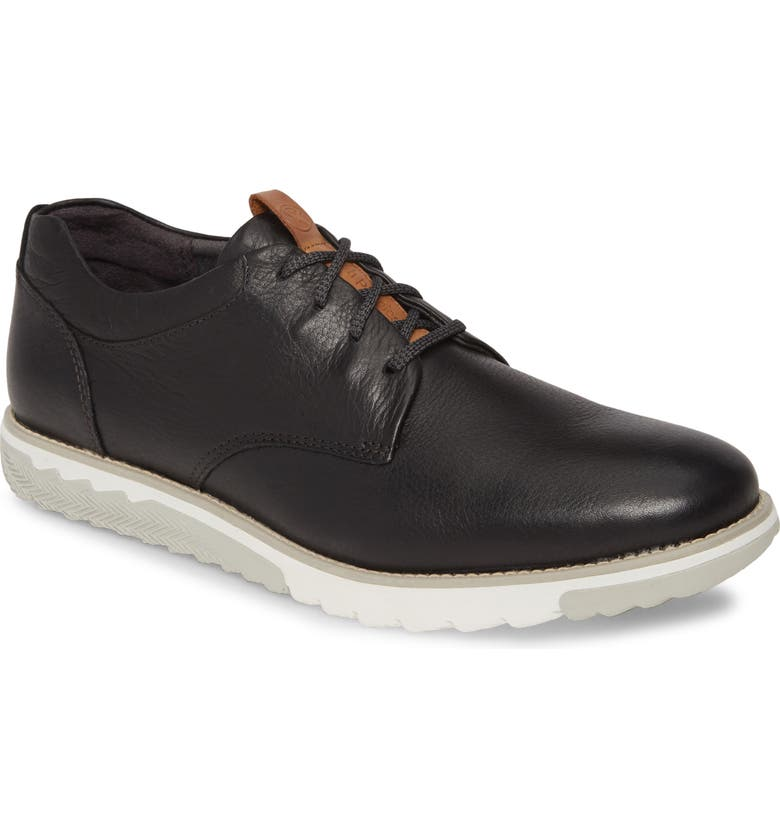 HUSH PUPPIES<SUP>®</SUP> Hush Puppies Expert Plain Toe Derby, Main, color, BLACK LEATHER
