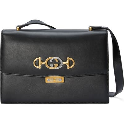 Gucci Smallleather Shoulder Bag - Black