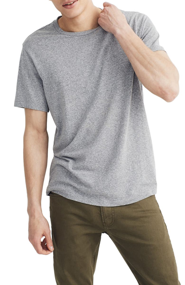 MADEWELL Garment Dyed Allday Crewneck T-Shirt, Main, color, HEATHER GREY