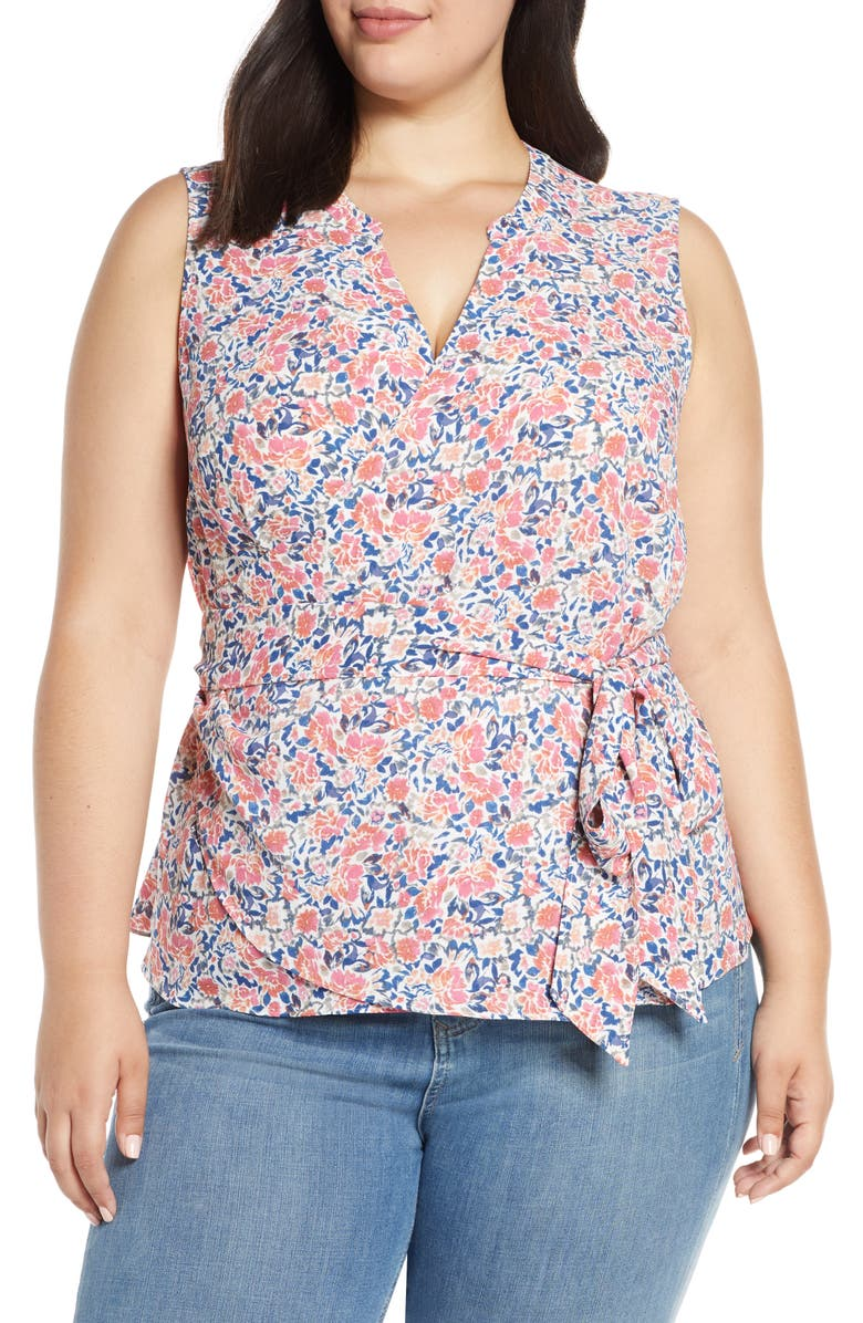 1.STATE Sunwashed Floral Wrap Top, Main, color, 800