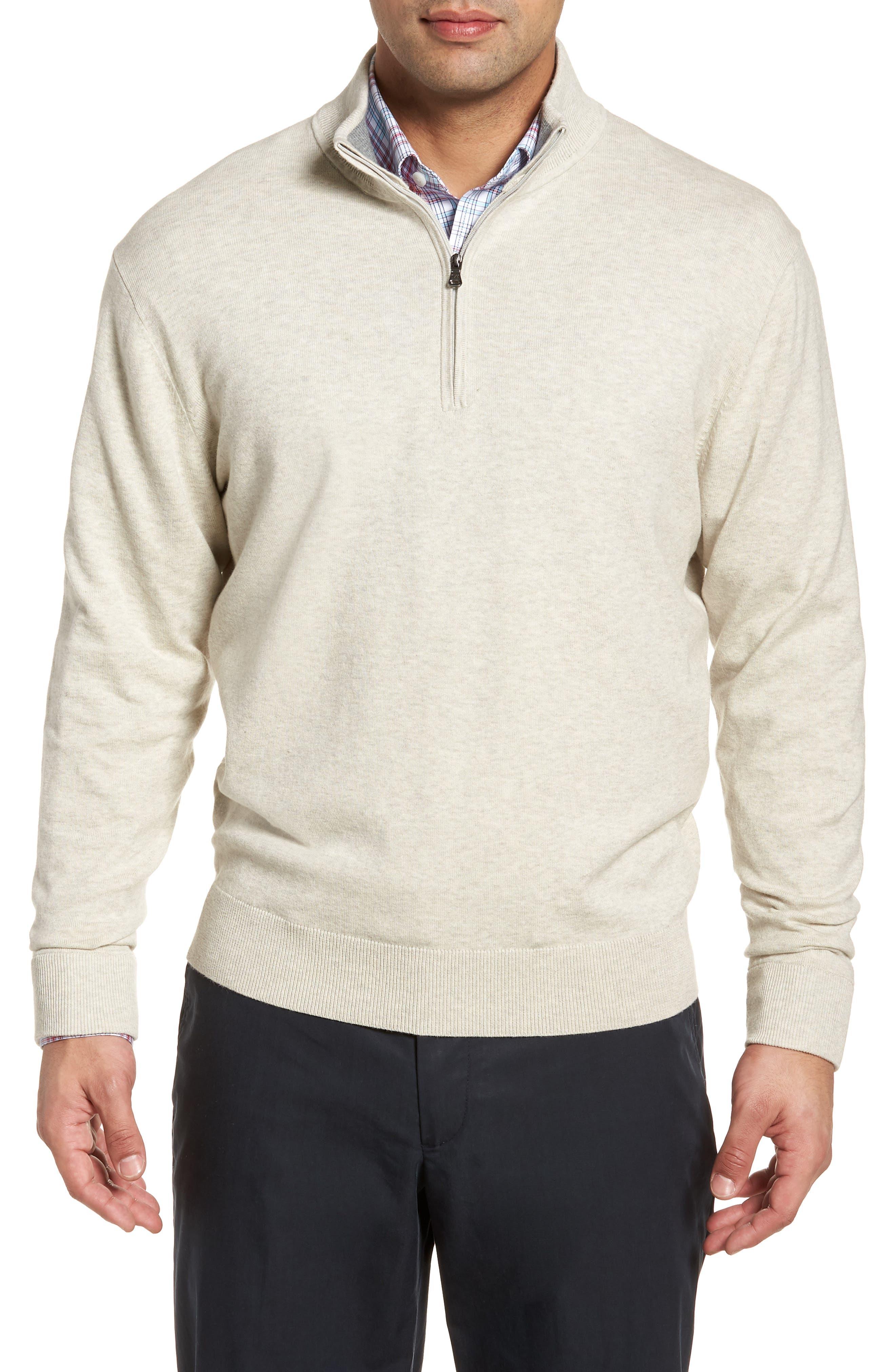Cutter & Buck Lakemont Classic Fit Quarter Zip Sweater, Grey