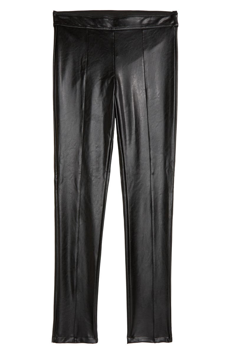 TRACTR Faux Leather Pants, Main, color, 001