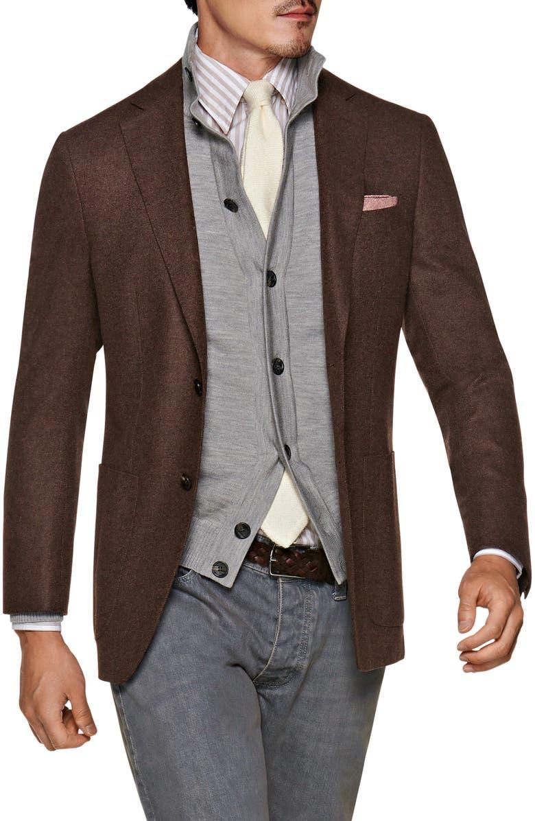 SUITSUPPLY Havana Slim Fit Solid Wool Sport Coat, Main, color, 200