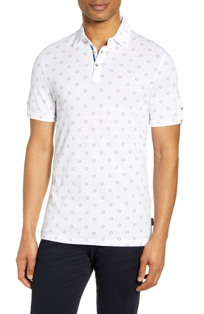 TED BAKER LONDON Slim Fit Short Sleeve Polo, Main, color, 110