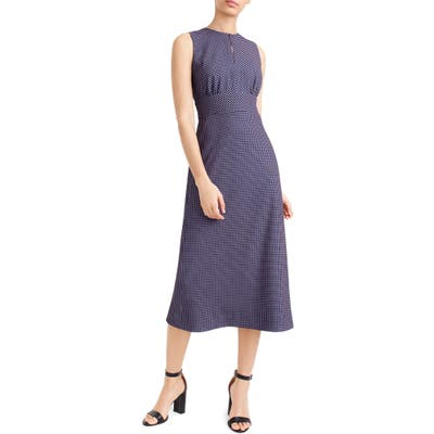 J.crew Dotted Crepe Midi Dress, Blue