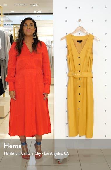 Sleeveless Button-Up Midi Dress, sales video thumbnail