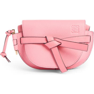 Loewe Gate Mini Leather Crossbody Bag - Pink