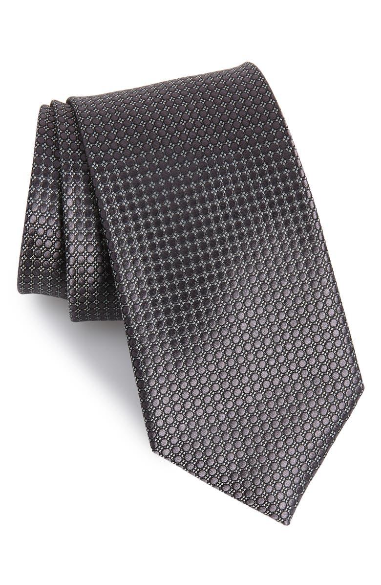 NORDSTROM MEN'S SHOP Alana Geometric Silk Tie, Main, color, 001