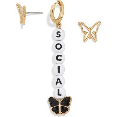 Baublebar Social Butterfly Mismatched Earrings