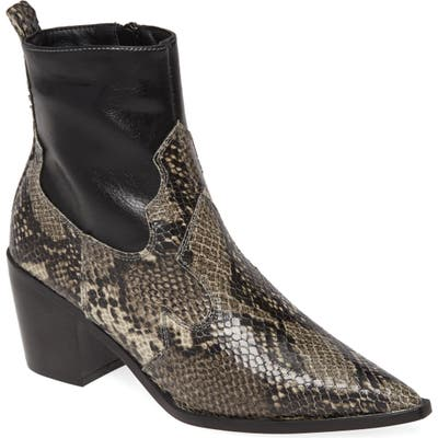 Topshop Bliss Western Boot - Black