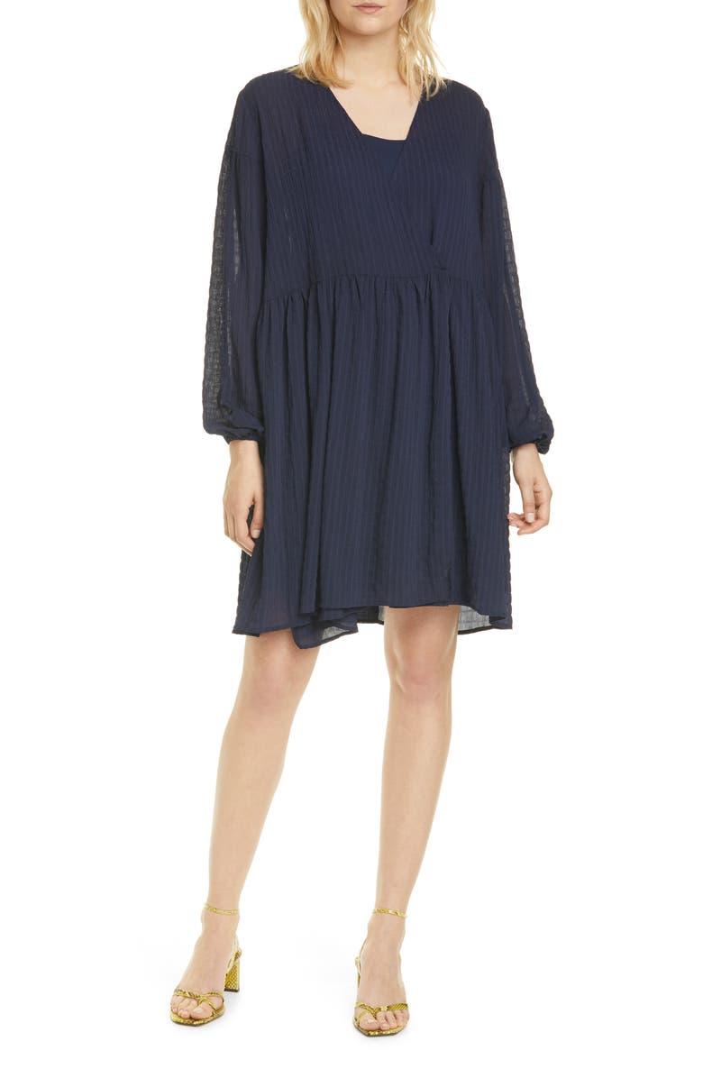 SAMSØE SAMSØE Jolie Long Sleeve Oversize Dress, Main, color, 400