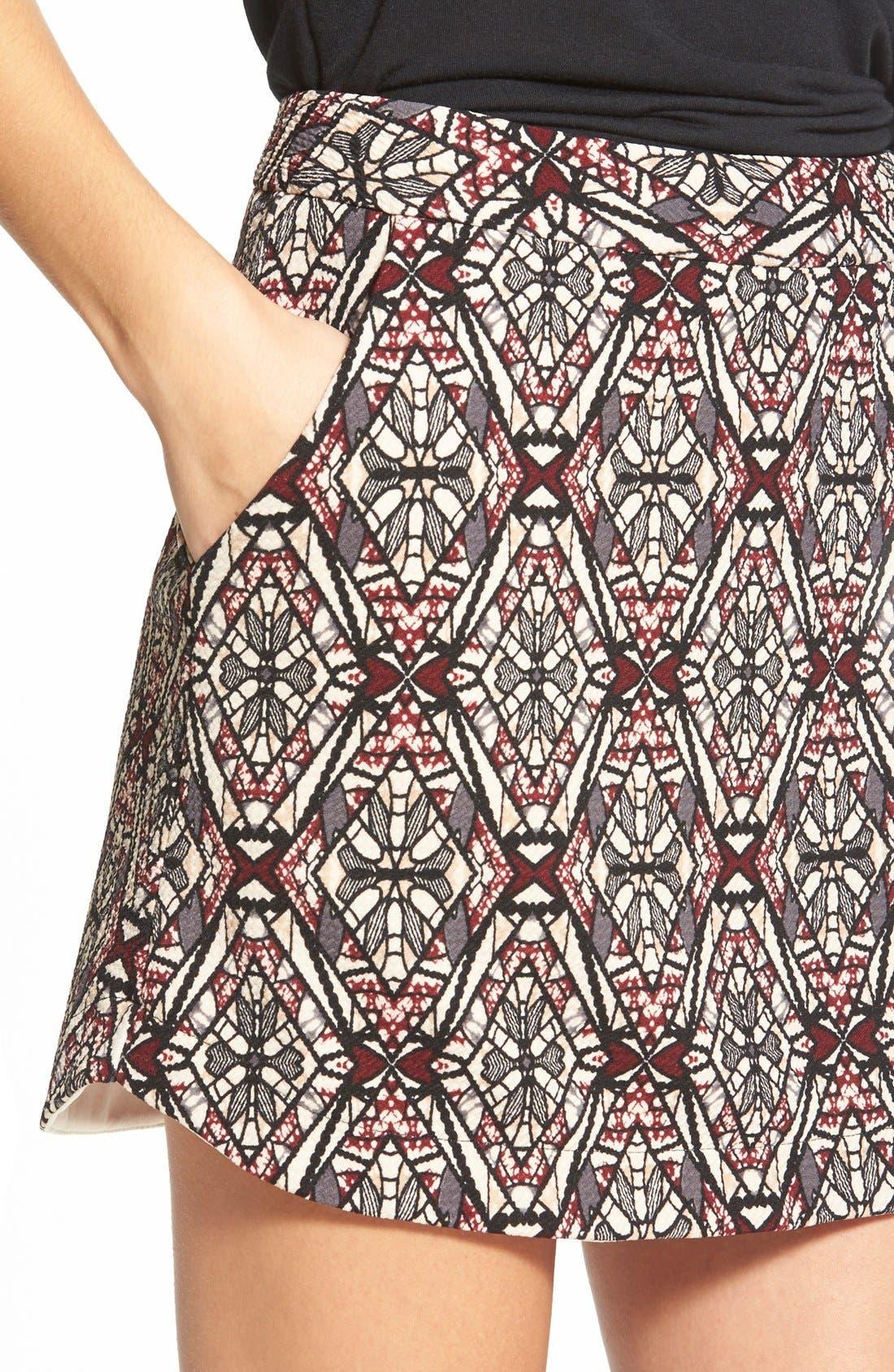 ,                             Knit Miniskirt,                             Alternate thumbnail 9, color,                             261