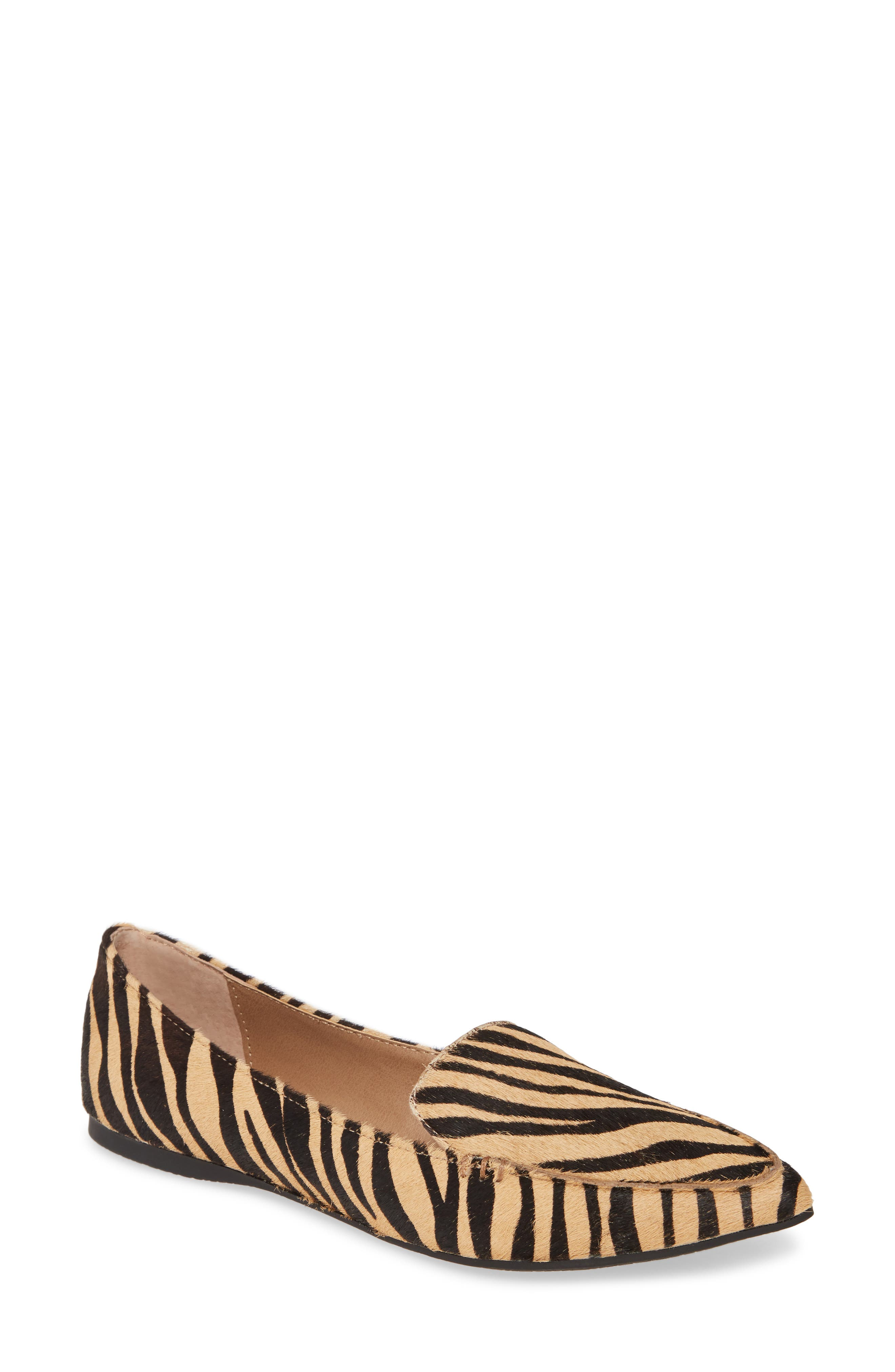 Steve Madden Feather-L Genuine Calf Hair Loafer Flat (Women)