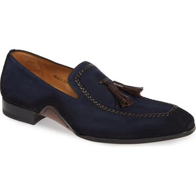 Mezlan Plazza Tasseled Venetian Loafer, Blue