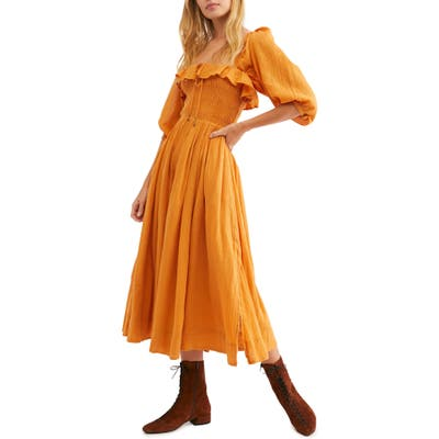 Endless Summer By Free People Ruffle Maxi Dress, Orange