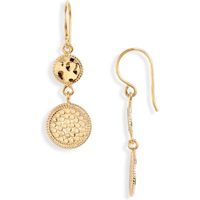 Anna Beck Hammered Double Drop Earrings