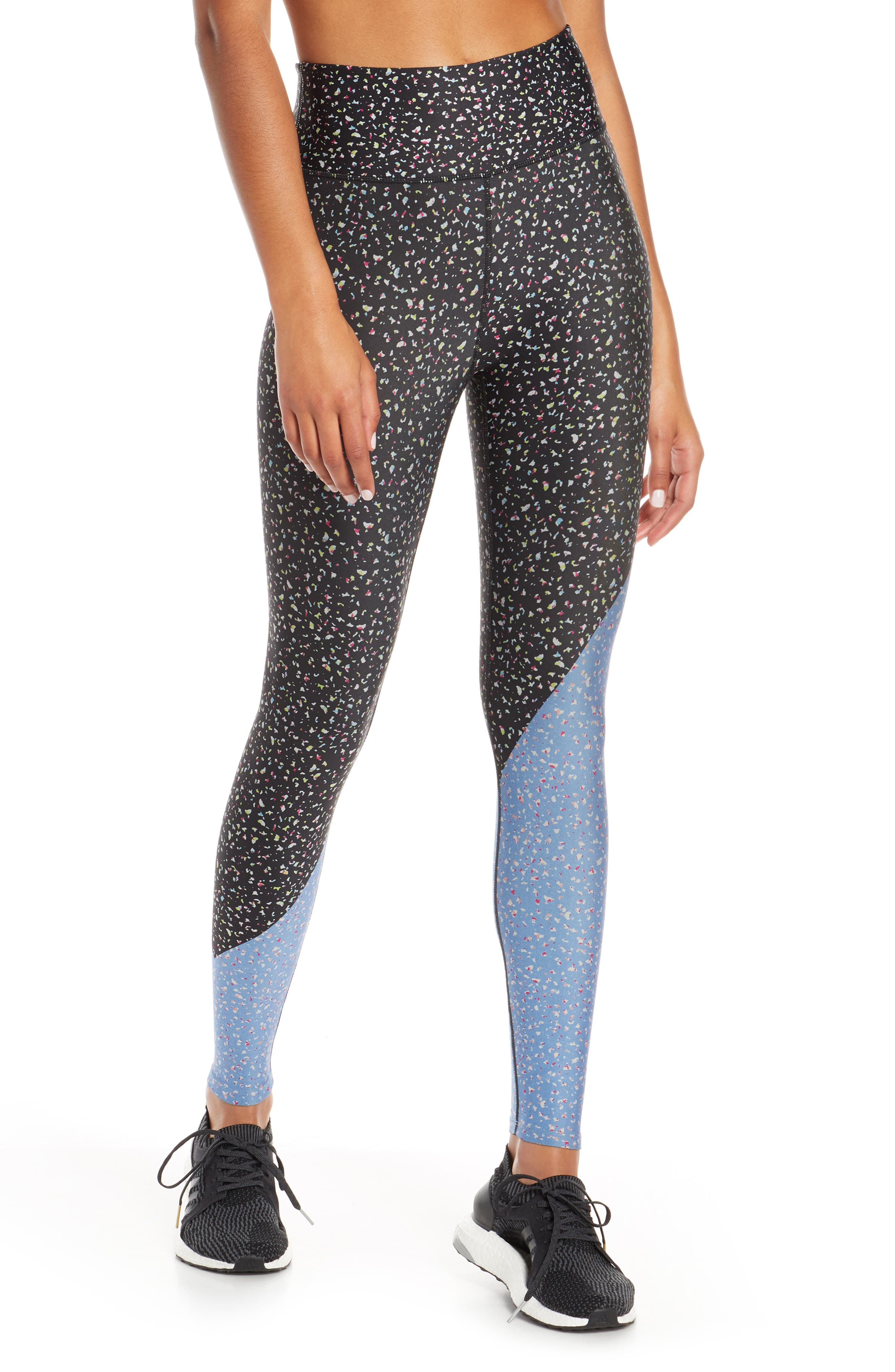 Soul By Soulcycle Diagonal Splice High Waist Tights, Grey