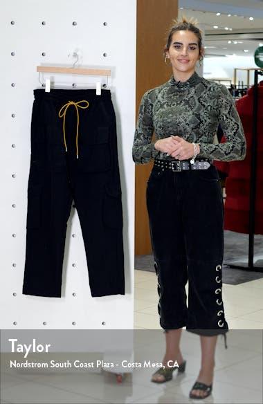 Cropped Satin Cargo Pants, sales video thumbnail