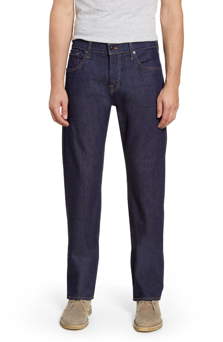 7 FOR ALL MANKIND<SUP>®</SUP> Straight Leg Jeans, Main, color, INCOGNITO DARK BLUE