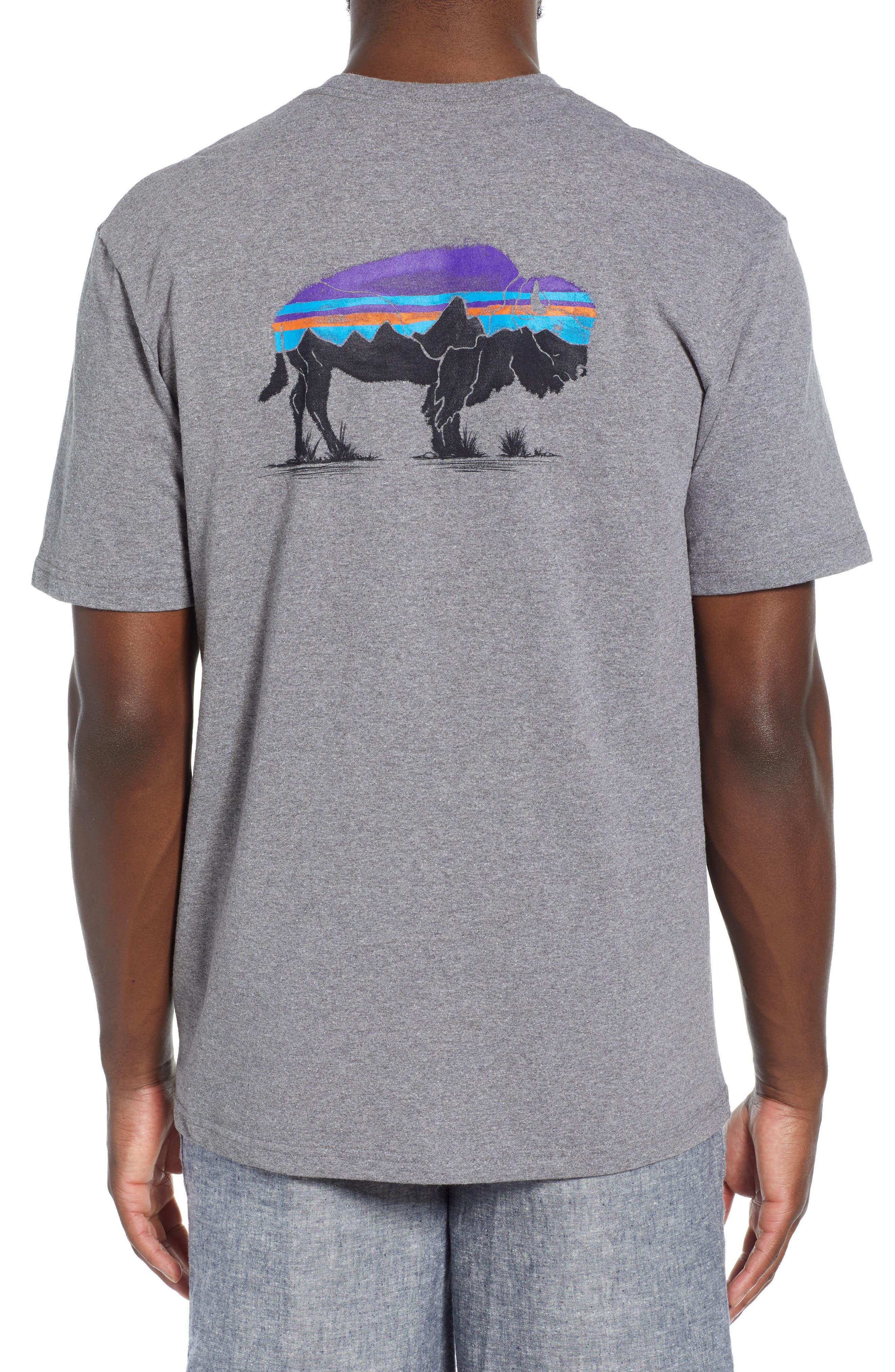 ,                             Fitz Roy Bison Responsibili-Tee T-Shirt,                             Alternate thumbnail 2, color,                             GRAVEL HEATHER