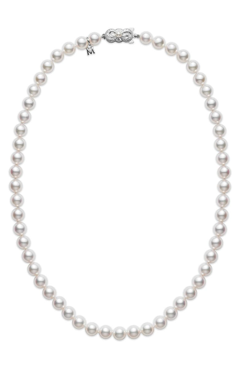 MIKIMOTO Essential Elements Akoya Cultured Pearl Necklace, Main, color, 710