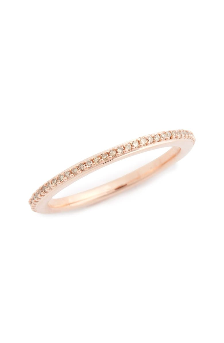 MONICA VINADER Diamond Eternity Ring, Main, color, CHAMPAGNE DIAMOND/ ROSE GOLD