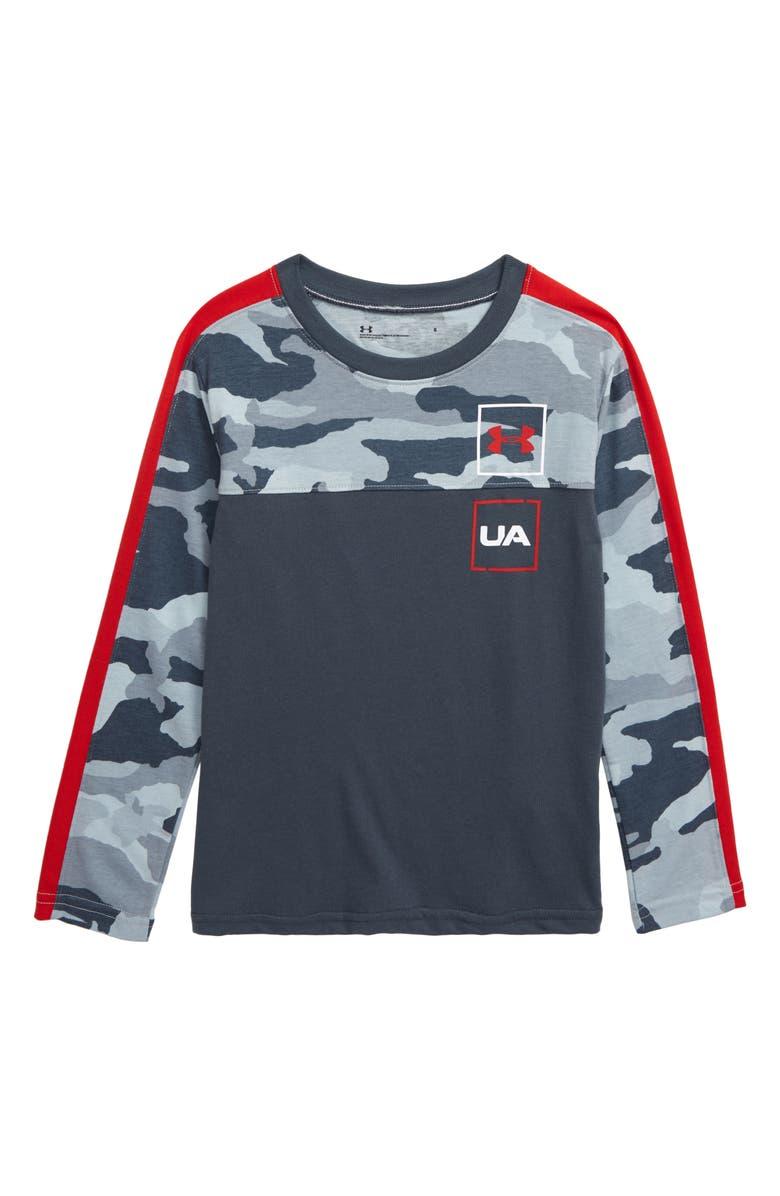 UNDER ARMOUR Bandit Camo Blocked T-Shirt, Main, color, WIRE BANDIT CAMO