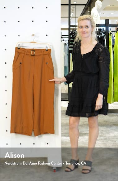 Belted Wide Leg Crop Trousers, sales video thumbnail