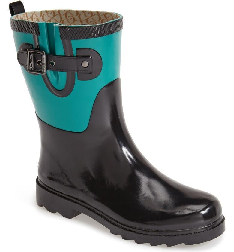 CHOOKA 'Colorblock Mid Height' Rain Boot, Main, color, 003