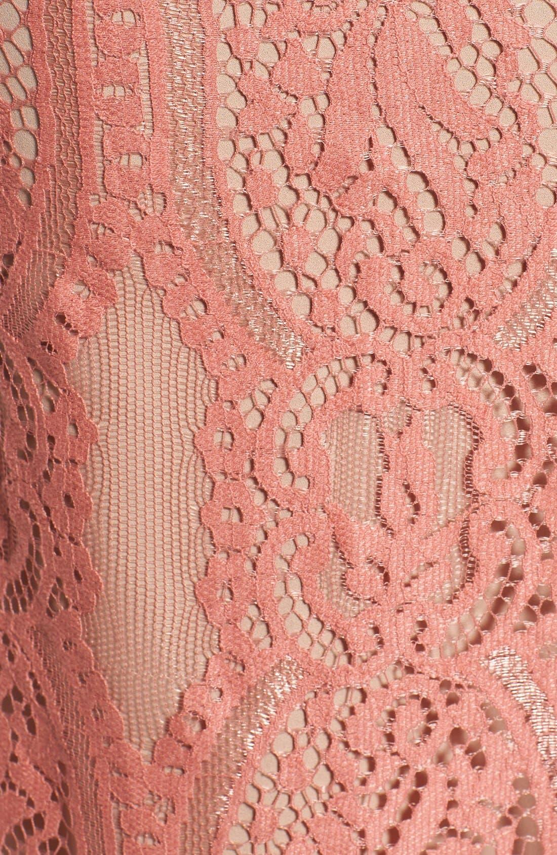 ,                             'Portrait' Lace Midi Dress,                             Alternate thumbnail 8, color,                             840