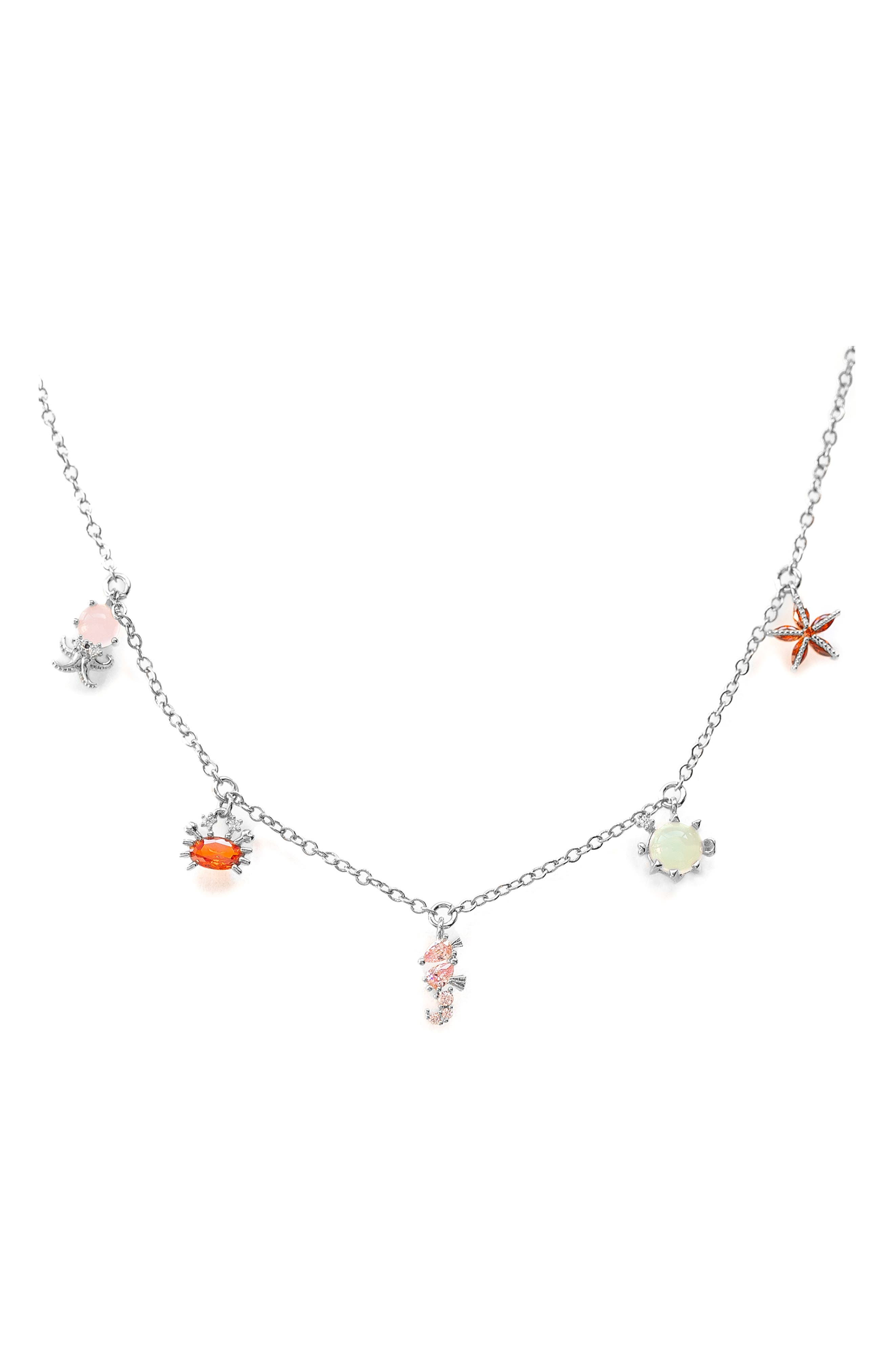 Under The Sea Charm Necklace