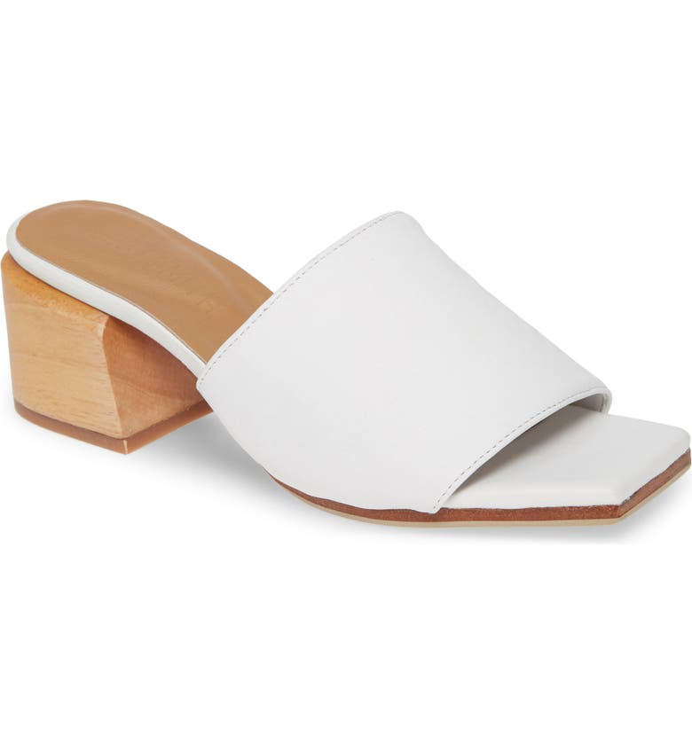 JAMES SMITH The Sicily Slide Sandal, Main, color, WHITE LEATHER