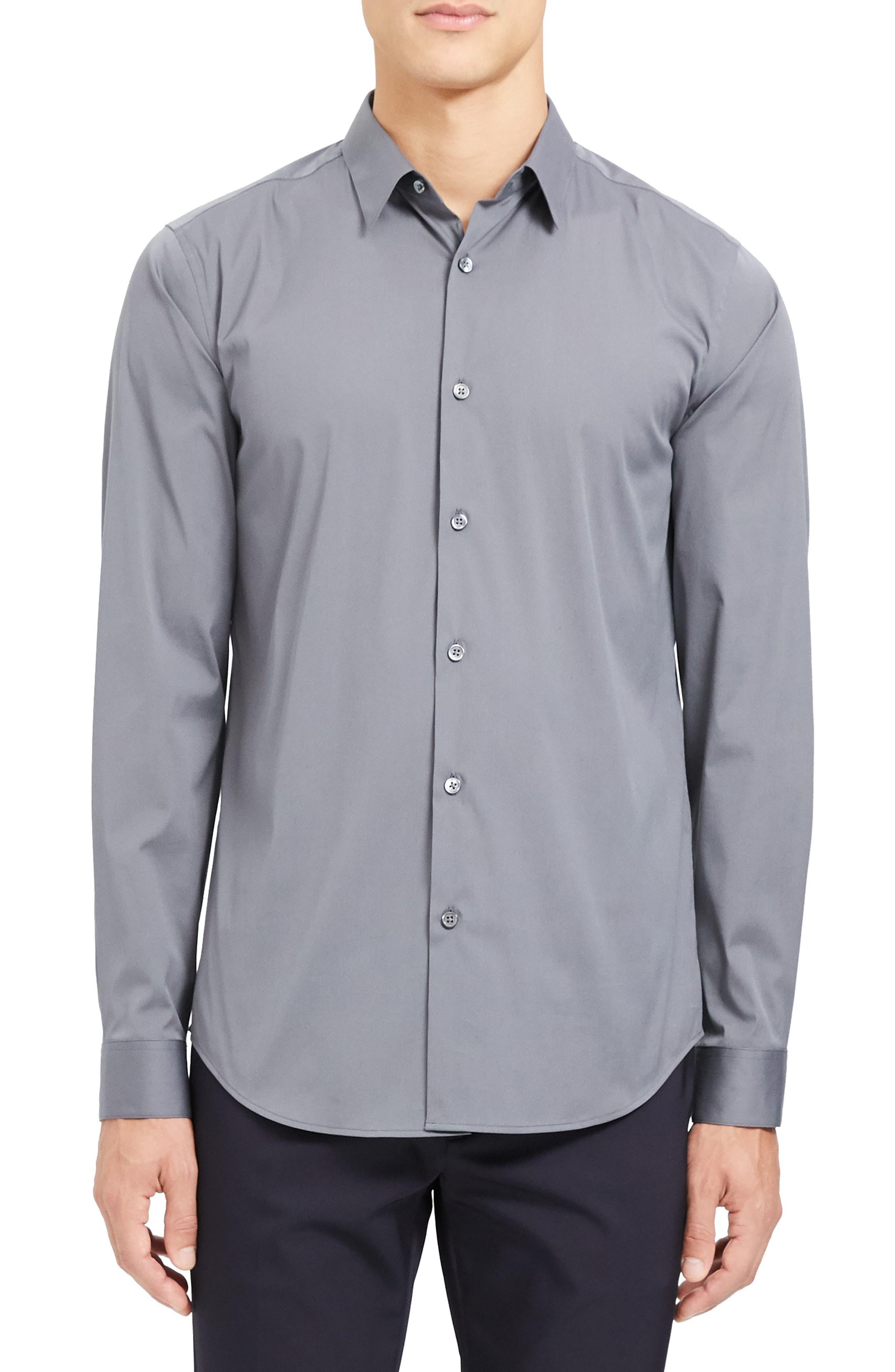 Image of Theory Sylvain Slim Fit Shirt