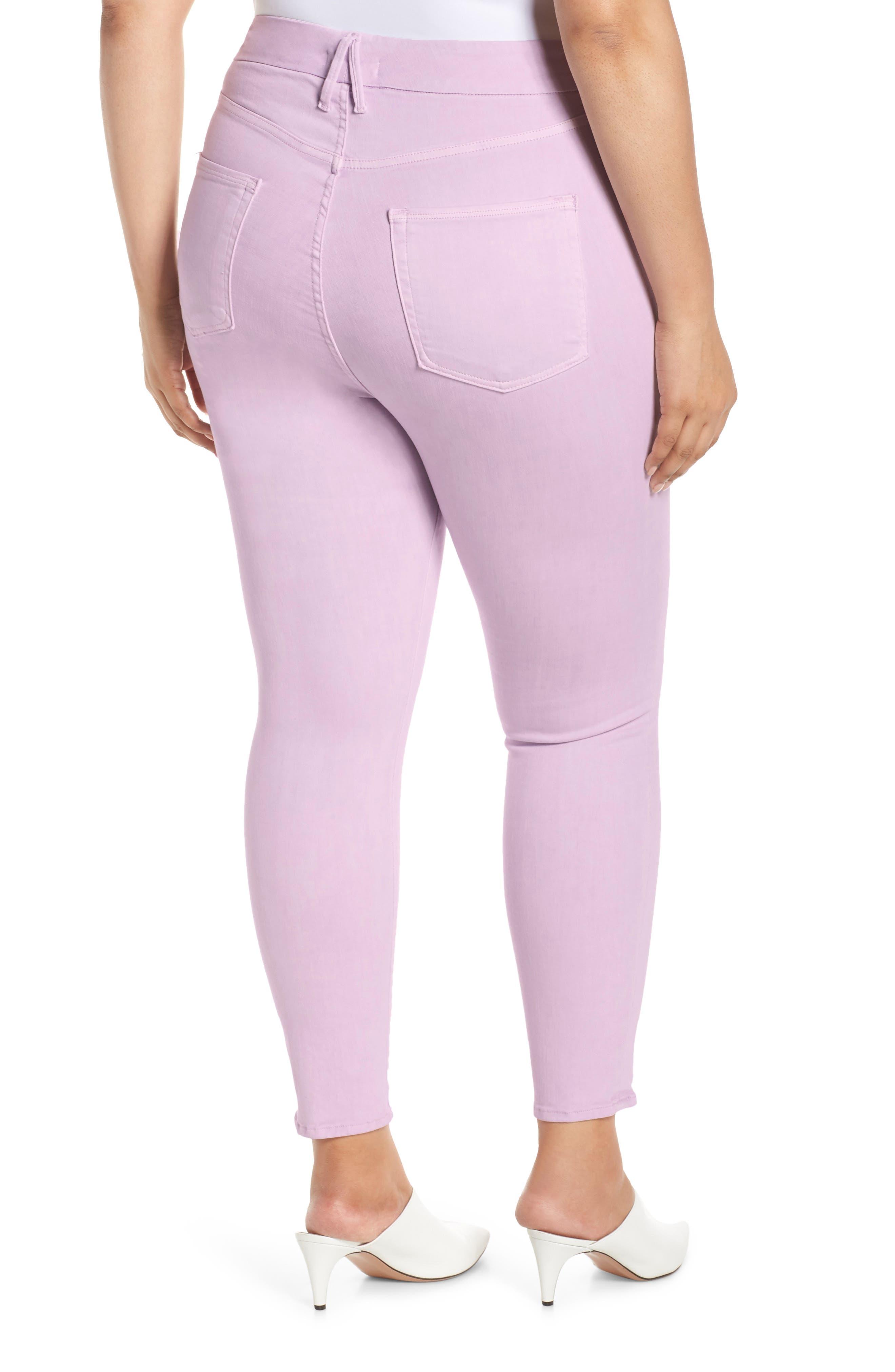 ,                             Good Legs High Waist Crop Skinny Jeans,                             Alternate thumbnail 2, color,                             LAVENDER001