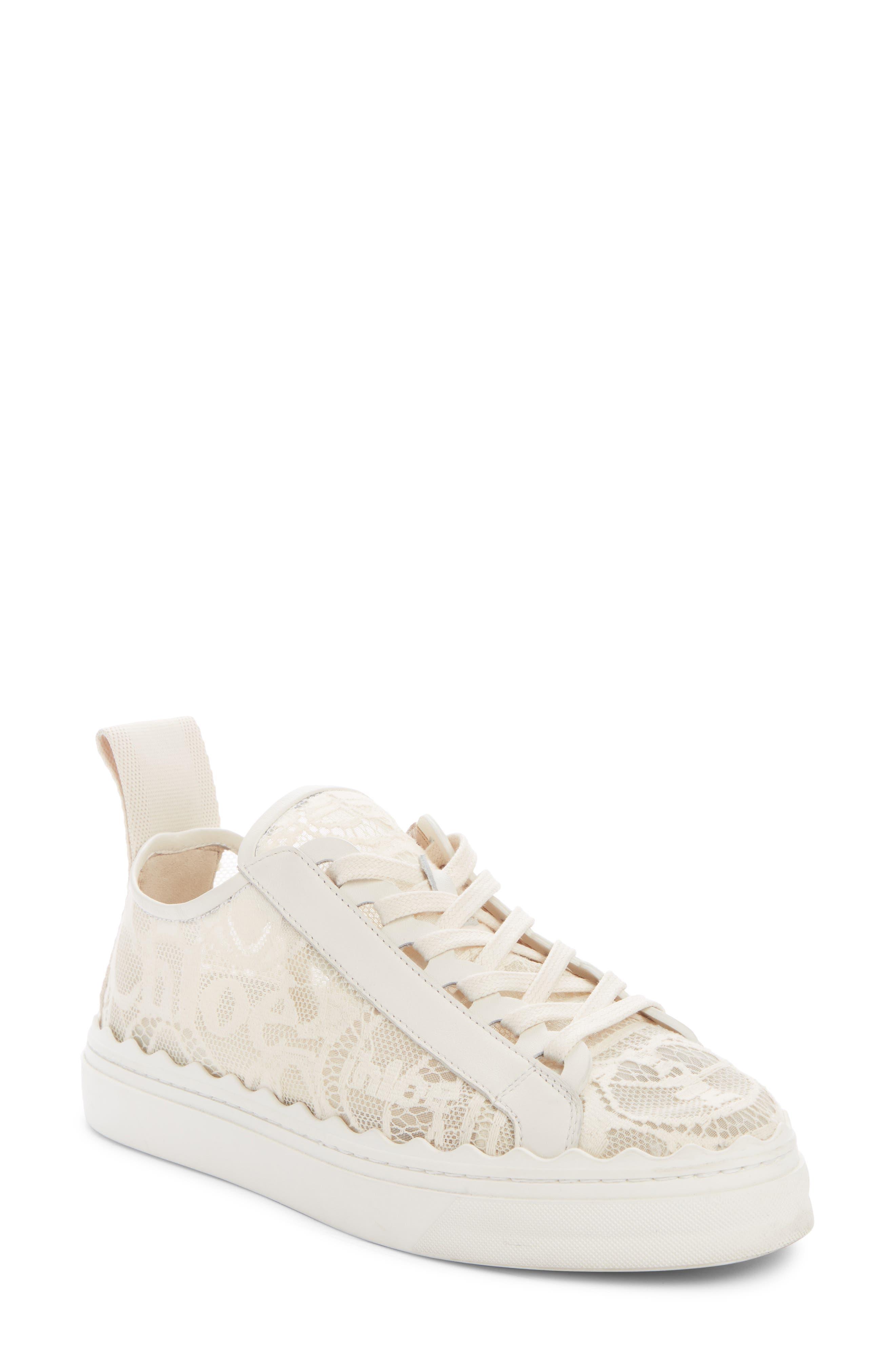 Chloé Lauren Logo Lace Platform Sneaker