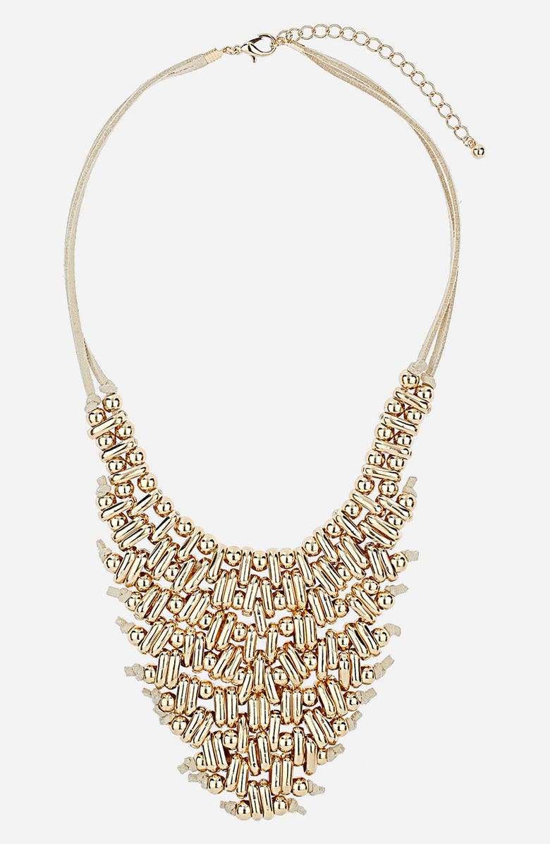 TOPSHOP 'Metal V' Collar Necklace, Main, color, 710