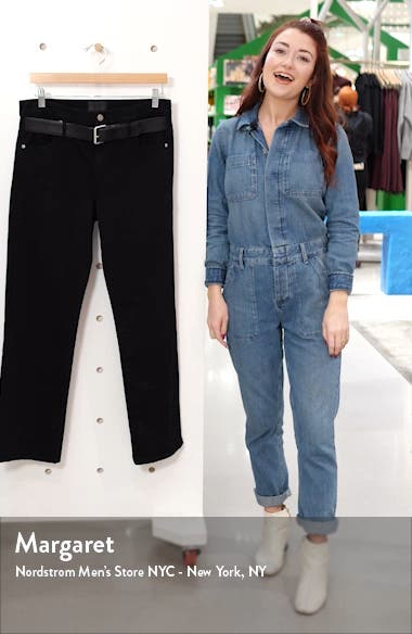 Dexter Belted High Waist Boyfriend Jeans, sales video thumbnail