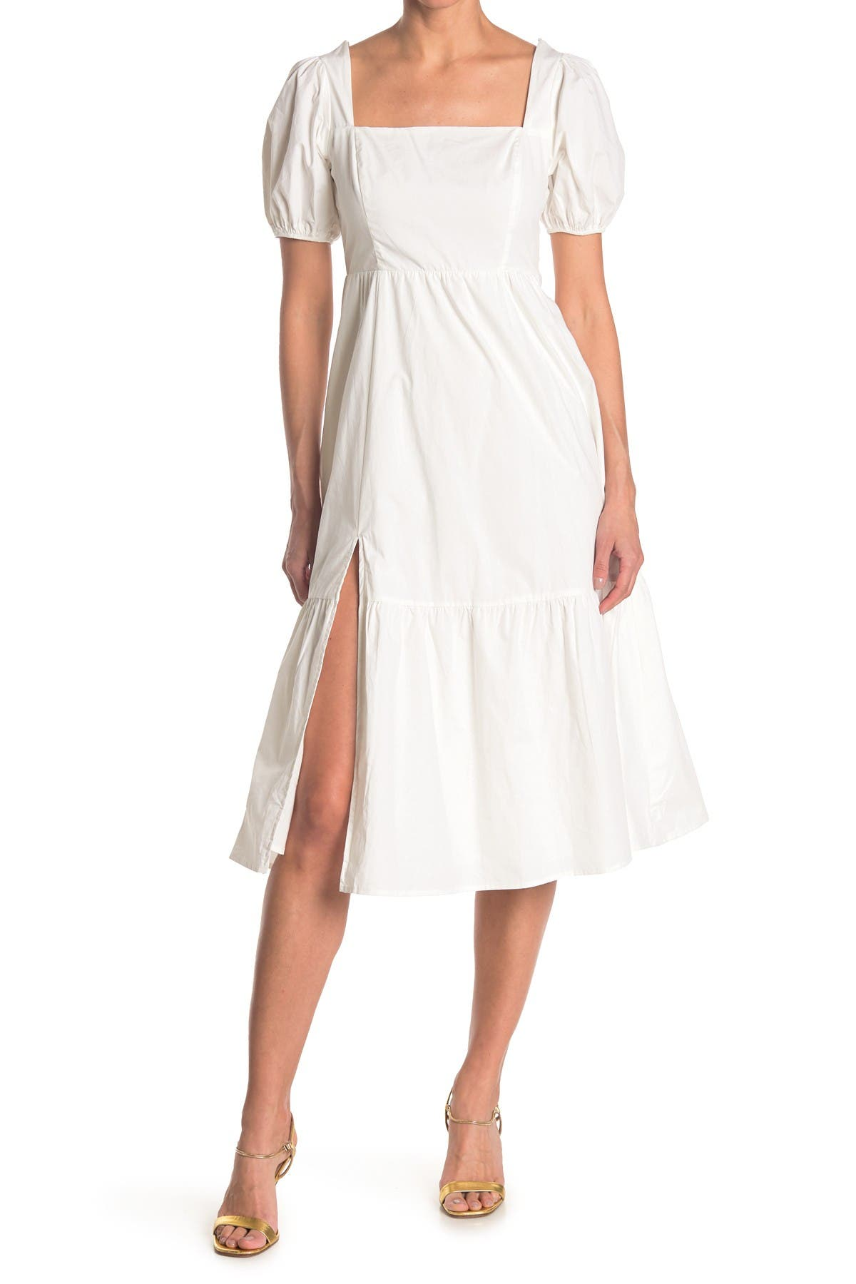 Image of ASTR the Label Poplin Tiered Maxi Dress