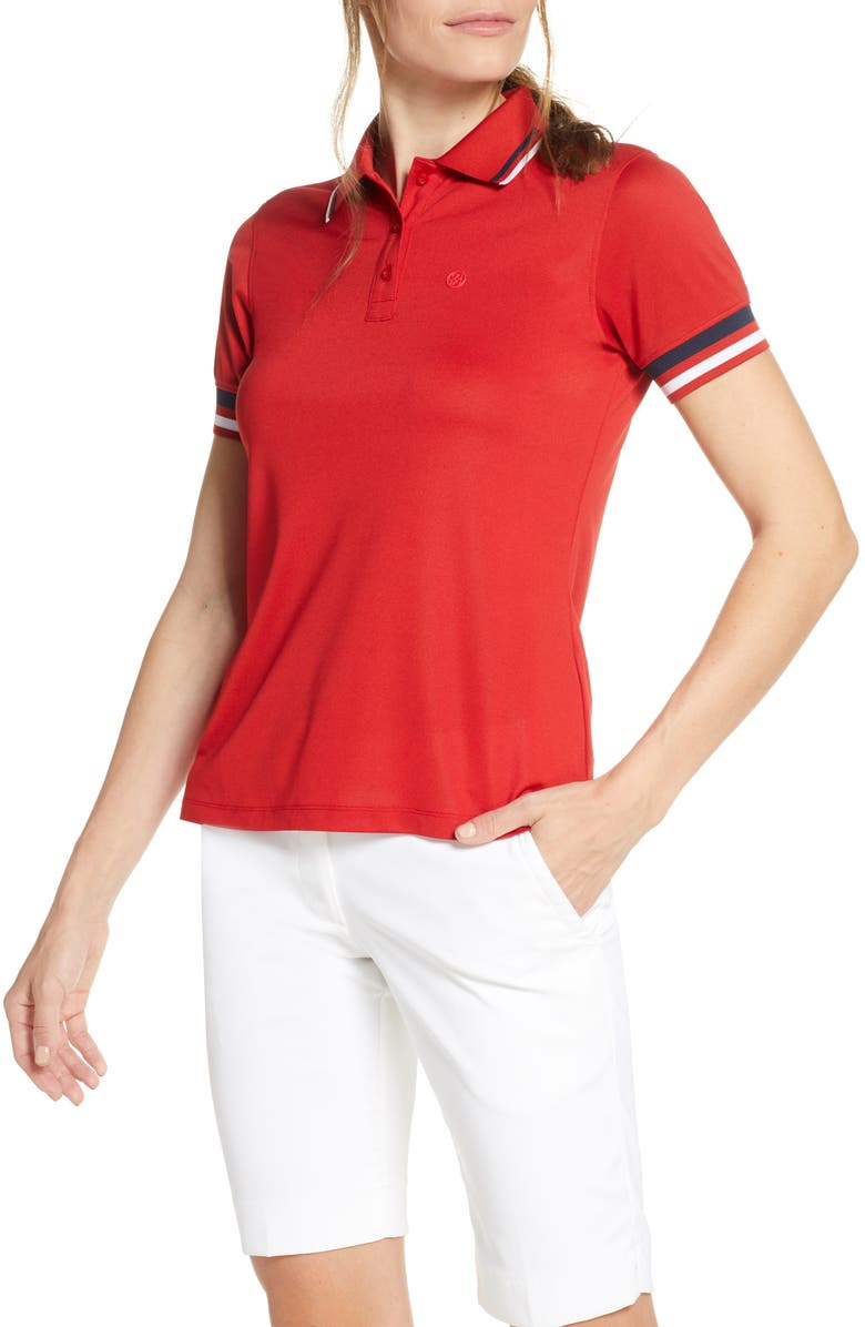 G/FORE Tipped Polo, Main, color, GARNET