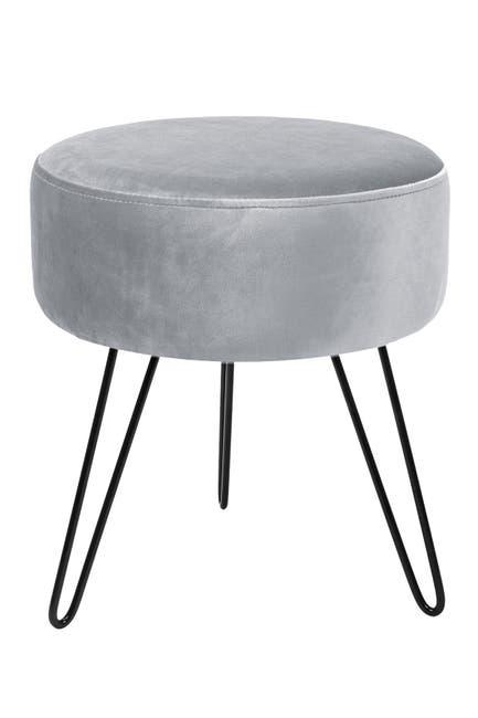 Image of Sorbus Grey Velvet Footrest
